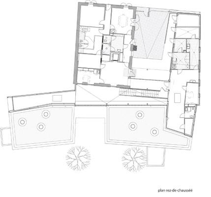 plan du rez de chaussée de crêche