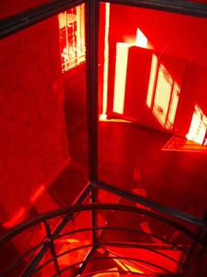 cage d'escalier vitrée