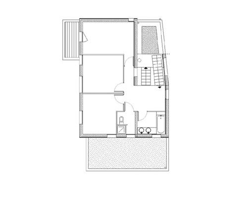 plan de maison contemporaine étage